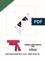 Snowman Origami Bookmark