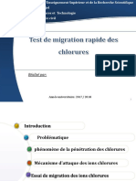 Test de Migration Rapide Des Chlorures