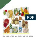 Fruit Bread Vegetables Meat Potatoes Pulses Eggs Milk Fish