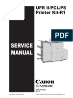 Canon Ufr II, Pcl, Ps Printer Kit r1 Service Manual