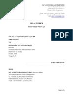 Legal Notice Sample