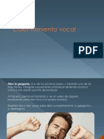 Taller 1. Calentamiento Vocal