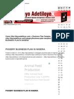 bakery startup business plan pdf