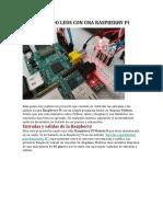 Controlando Leds Con Una Raspberry Pi