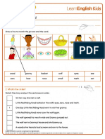Short Stories Little Red Riding Hood Worksheet