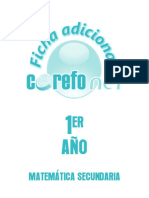 FICHAS ADICIONALES 1º