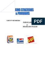 Pricing Strategy and Programs