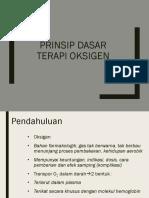 Prinsip Dasar Terapi Oksigen