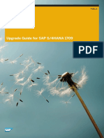 Upgrade Guide for SAP S4HANA 1709