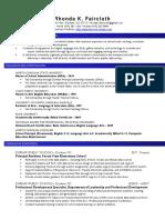 rhonda faircloth revised resume