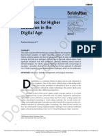Strategies for Higher Education in the Digital Age