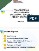 Transformasi Kelembagaan DJPBN 26042015
