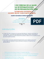 Oclusión y Biomecanica en Prótesis Sobre Implantes