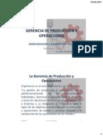 Gerencia de Producción y Operaciones