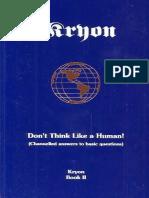 Kryon Book-02 Don't Think Like a Human.pdf