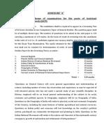 Syllabus Scheme Examination PRELIMINARY