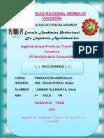 Diccionario Prod.agricola II Damian Villanueva, Jhony