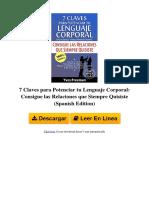 b00tyqcv2q 7 Claves Para Potenciar Tu Lenguaje Corporal Consigue Las Relaciones Que Siempre Quisiste Spanish Edition by Yves Freeman