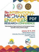 E-Proceeding of the 8th International Mechanical Engineering Research Conference 2018