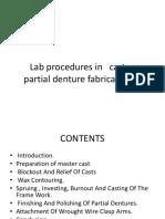 Lab Procedures in RPD Fabrication