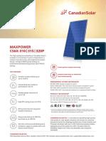 Canadian Solar Datasheet CS6XP Maxpower v5.4C1en
