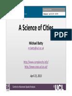 Batty 2013 a Science of Cities SANTA FE 2013
