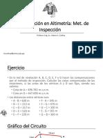 Compensación Por Inspección Altimetría
