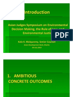 Kala Mulqueeny - Introduction - Asian Judges Symposium on Environmental Decision Making, The Rule of Law, And Environmental Justice