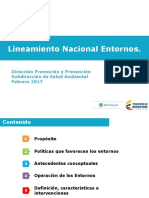 Lineamientos Nacionales Entornos Saludables
