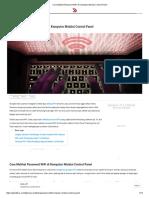 Cara Melihat Password WiFi Di Komputer Melalui Control Panel