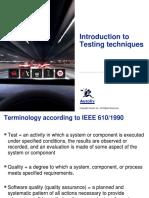 Testing Techniques