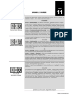 SOF Sample Paper Class 11 PCB