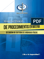 Manual de Evidencia Cadena de Custodia