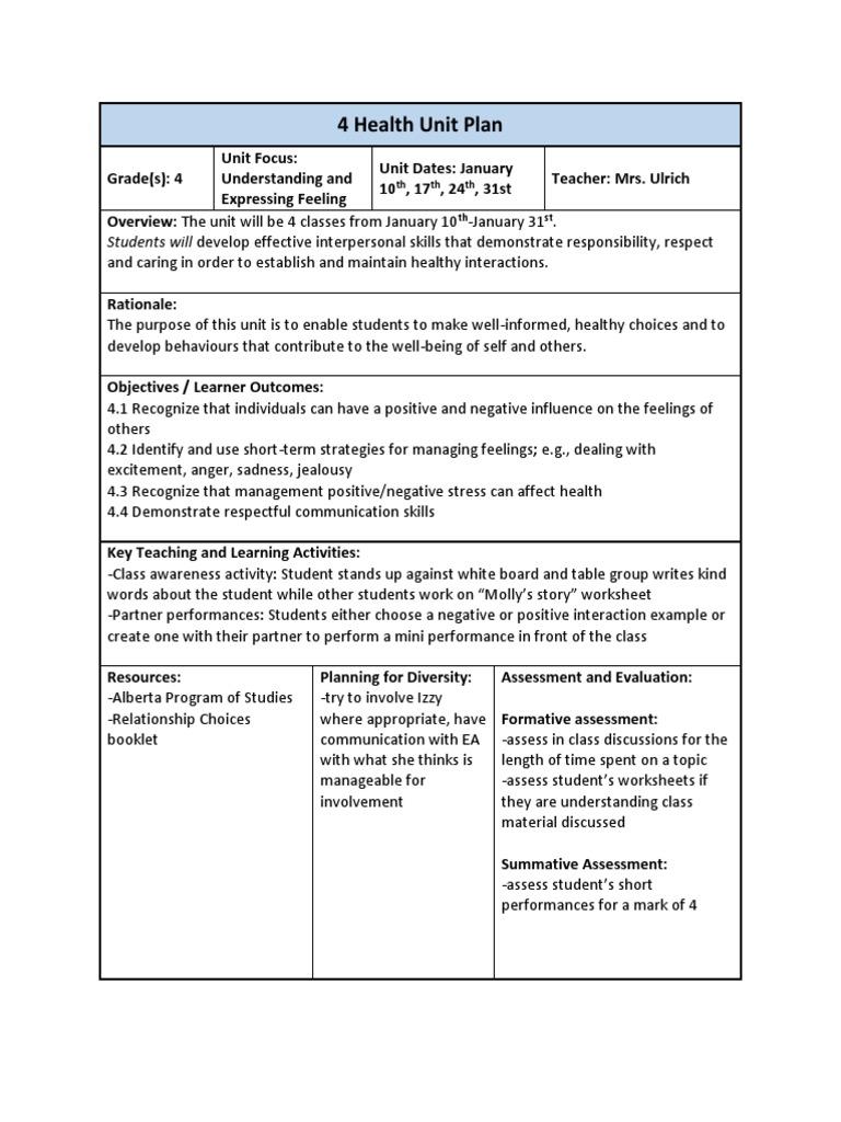 expressing feelings unit weebly | Educational Assessment | Pedagogy