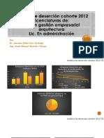 Análisis de deserción cohorte 2012.pptx