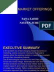 New Market Offerings