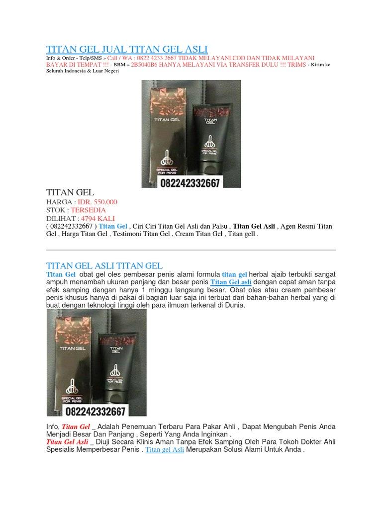 jual titan gel di sofifi klinikobatindonesia com agen resmi