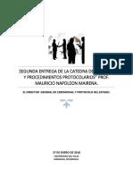 Segunda Entrega de Normas y Procedimientos Protocolarios 2018