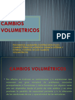 Cambios Volumétricos, Etc