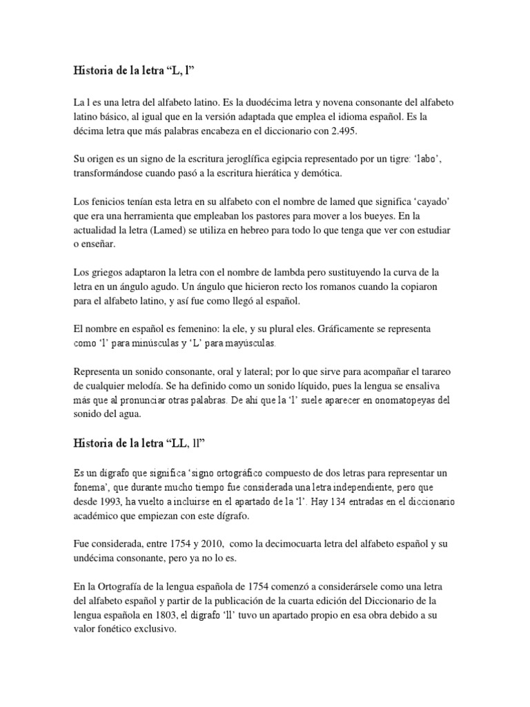 Historia de La Letra
