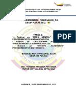 ensayo procedimientos policiales