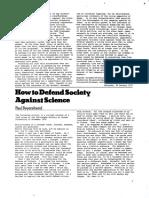 Rp11 Article1 Defendsocietyagainstscience Feyerabend