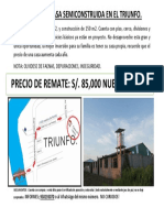 Se Remata Casa Semiconstruida en El Triunfo