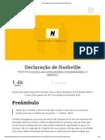 Declaração de Nashville (Nashville Statement)