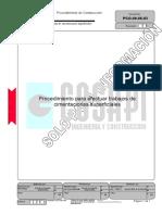 Proc. Para Efectuar Trabajos de Cimentaciones Superficiales
