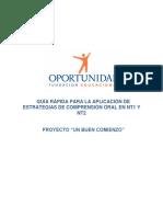 9e3d6 Guia Rapida Para La Aplicacion de Estrategias de Comprension Oral