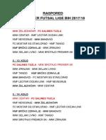 Raspored Premijer Futsal Lige BiH 2017-18
