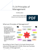 Fayol's 14 Principles of Management_Prof Bhisma Murti