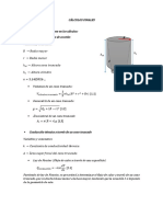 Cálculos Finales en un cono truncado de aluminio