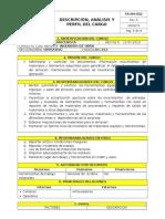 Dc-012 Descripcion Cargo Almacenista